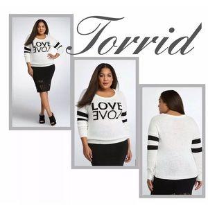 TORRID LOVE Sweater & FREE BOOTS NineCo Sz 9